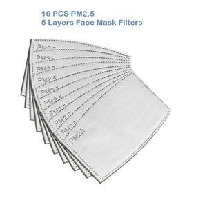 10PCS PM2.5 Five layers Face Mask filter